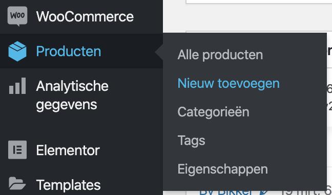 WooCommerce product toevoegen