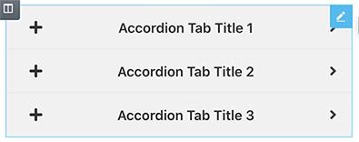 Advanced accordion widget