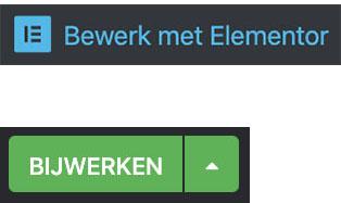 Pagina aanpassen met Elementor