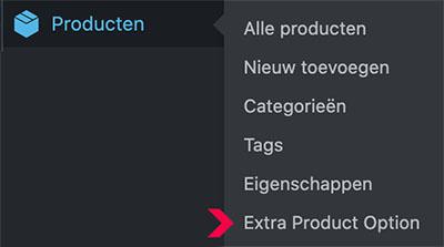 Productopties plugin WooCommerce